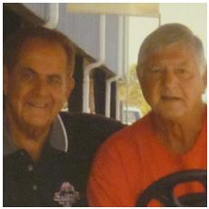 Dick Gordon with Carl Yastrzemski