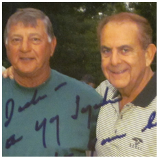 Dick Gordon with Carl Yastrzemski