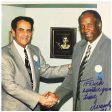 Dick Gordon and Frank Robinson