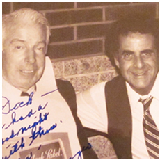 Dick Gordon with Joe DiMaggio