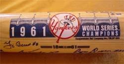 1961 New York Yankees Championship Team Autographed Bat