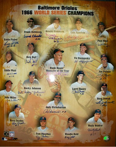 1966 World Series Champion Baltimore Orioles Autographed Photo