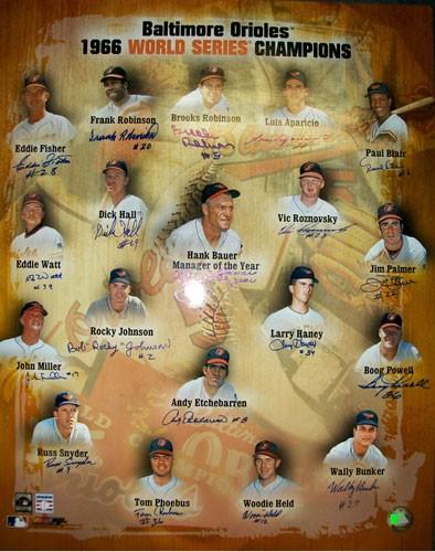 1966 Baltimore Orioles Championship Team Autographed Photo