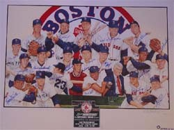 1ec9ca9b96c 1967 Boston Red Sox Autographed 35th Anniversary Poster Created by Renowned  Artist Paul Madden