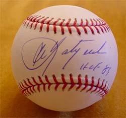 Carl Yastrzemski Autographed Baseball with HOF 89 Inscription