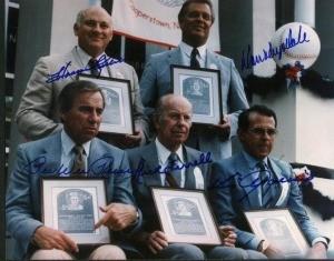 1984 Baseball Hall of Fame Class Autographed Photo