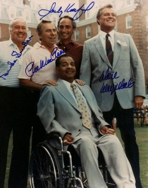 Campanella/Snider/Reese/ Drysdale/Koufax Autographed Photo