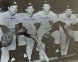 1961 New York Yankees Infield Autographed Photo (16 x 20)