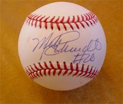Mike Schmidt Autographed Baseball with #20 Inscription
