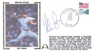 Nolan Ryan Autographed Gateway Cover Commemorating his 300th Win