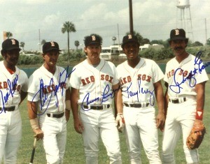Boston Red Sox Greats Autographed Photo