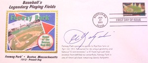 Carl Yastrzemski Autographed Special Post Office Cover Honoring Fenway Park