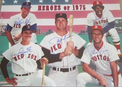 1975 Boston Red Sox Championship Team Heroes Autographed Photo