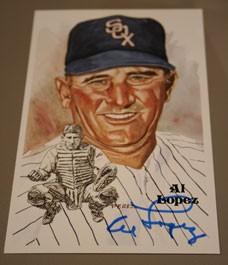 Al Lopez Autographed Perez-Steele Art Postcard