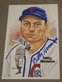Billy Herman Autographed Perez-Steele Art Postcard
