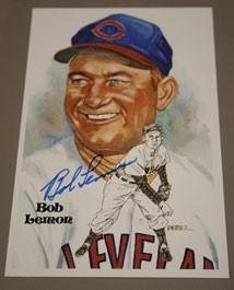 Bob Lemon Autographed Perez-Steele Art Postcard