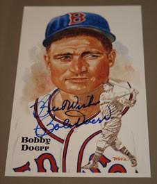 Bobby Doerr Autographed Perez-Steele Art Postcard