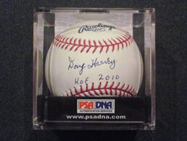Doug Harvey Autographed Baseball with HOF 2010 Inscription