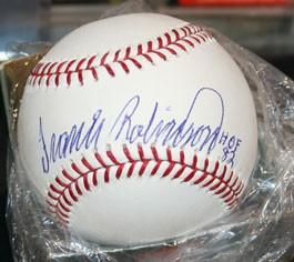 Frank Robinson Autographed Baseball HOF