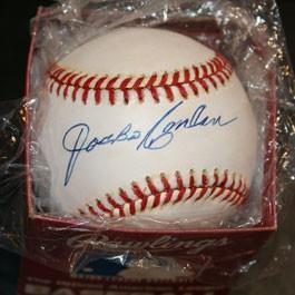 Jocko Conlan Autographed Baseball