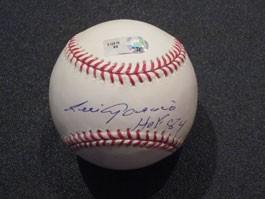 Luis Aparicio Autographed Baseball with HOF 84 Inscription