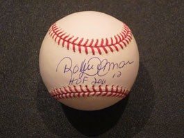 Roberto Alomar Autographed Baseball with HOF 2011 Inscription