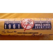1961 New York Yankees Championship Team Autographed Bat