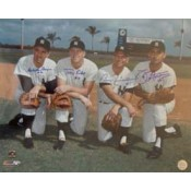 1963 New York Yankees Infield Autographed Photo