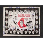 1967 Boston Red Sox Autographed Placemat