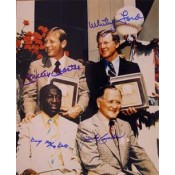 Mickey Mantle, Whitey Ford, Cool Papa Bell and Jocko Conlan Autographed Photo