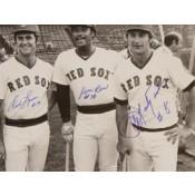 Carl Yastrzemski, Jim Rice and Fred Lynn Autographed Photo