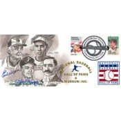 Earl Weaver and Jim Bunning Autographed First Day Cover of 1996 Hall of Fame Inductees