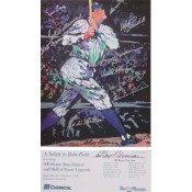 500 Home Run Club Autographed Leroy Neiman Poster