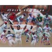 500 Stolen Base Club Autographed Poster