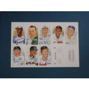 7th Series Autographed Perez-Steele Art Postcard Uncut Sheet