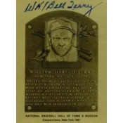 Bill Terry Autographed Metallic HOF Card