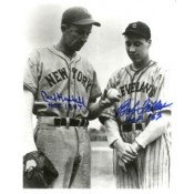 Carl Hubbell and Bob Feller Autographed Photo