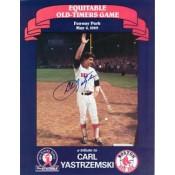 Carl Yastrzemski Autographed Program