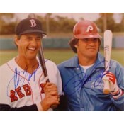 Carl Yastrzemski and Pete Rose Autographed Photo