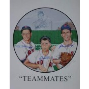 Ted Williams Teammates Autographed Poster
