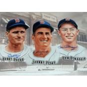 Bobby Doerr, Johnny Pesky and Dom DiMaggio Autographed Poster