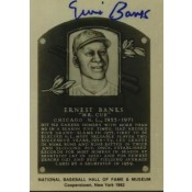 Ernie Banks Autographed Metallic HOF Card