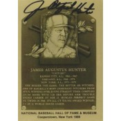 "Jim ""Catfish"" Hunter Autographed Metallic HOF Card"