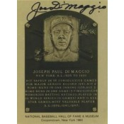 Joe DiMaggio Autographed Metallic HOF Card