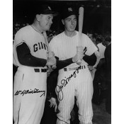 Joe DiMaggio and Bill Terry Autographed Photo (8 x 10)