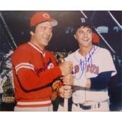 Carl Yastrzemski and Johnny Bench Autographed Photo