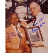 Judy Johnson and Former Commissioner Bowie Kuhn Autographed Photo