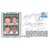 Baseball's Last Triple Crown Winners Mantle, Williams, Yaz, and Robinson Autographed Cachet
