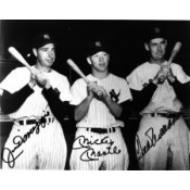 Joe DiMaggio, Mickey Mantle and Ted Williams Autographed Photo