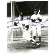 Mickey Mantle and Bill Dickey Autographed Photo